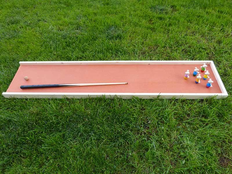 jeu de bowling en bois queue de billard quilles souris