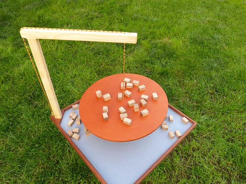 jeu en bois équilibre cube en chêne massif