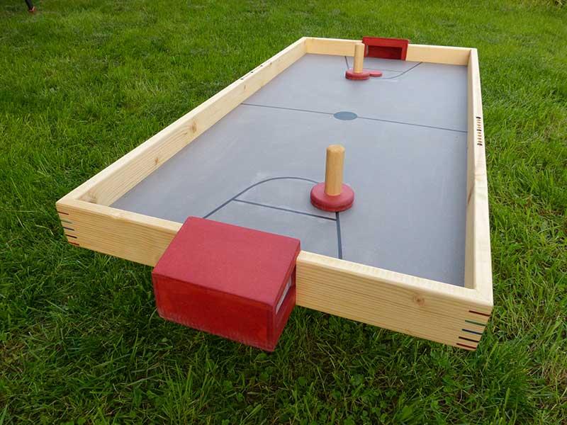 shuffle puck grand jeu en bois coloré