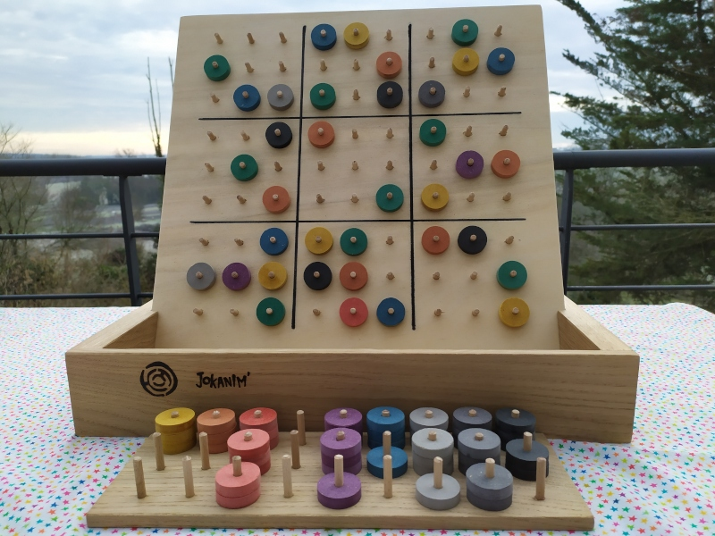 Sudoku des couleurs en bois - jokanim'