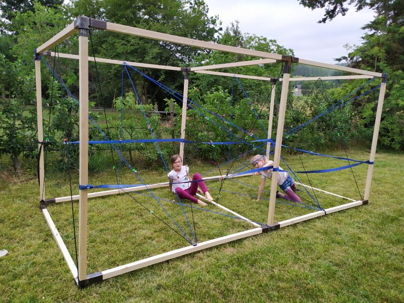 cage à élastiques